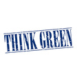 think green blue grunge vintage stamp isolated on vector image