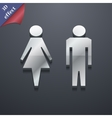 Toilet icon symbol 3D style Trendy modern design vector image vector image