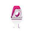 toilet sign detachable paper vector image vector image