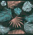 trendy seamless exotic pattern with tropical vector image vector image