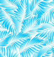 Tropical aqua leaves in a seamless pattern vector image vector image
