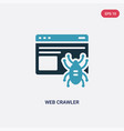 two color web crawler icon from ui concept vector image vector image