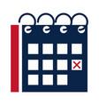 united states elections reminder calendar marker vector image vector image