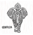 vintage Indian elephant vector image vector image