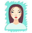 young beautiful asian woman girl in casual vector image