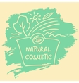 Logo label sticker tag for natural cosmetics vector image