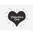 Heart with hand drawn typography poster vector image