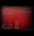 3d model of an hourglass vector image vector image
