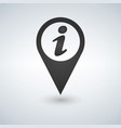 a map mark icon with an info sign vector image