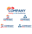 Air conditioning logo vector image