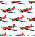 airplane color seamless pattern vector image