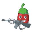army goji berries character cartoon vector image