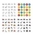auto workshop icons set vector image