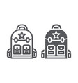 backpack line and glyph icon camping and travel vector image vector image