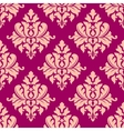 Beige damask seamless pattern vector image