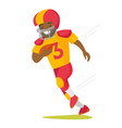 black rugby player running with ball vector image vector image