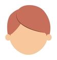 Boy cartoon head design vector image
