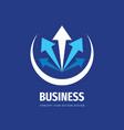 business trend concept logo design development vector image