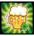 cartoon beer vector image vector image