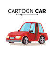 cartoon car reg flat style isolated on vector image vector image