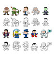 cartoon characters set vector image vector image