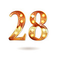 celebrating of 28 years anniversary vector image vector image