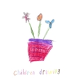 Childs Drawing Of a Flowers vector image