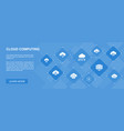 cloud computing banner 10 icons concept cloud vector image vector image