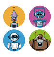 collection robots technology smart vector image vector image