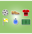 color set with soccer icons vector image vector image