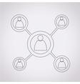 concept network icon vector image