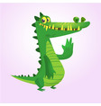 cute cartoon crocodile or dinosaur vector image vector image