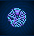 cyber security finger print scanned fingerprint vector image vector image