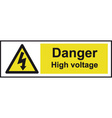 Danger High Voltage Safety Sign vector image vector image
