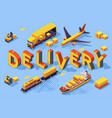 delivery transport technologies vector image vector image