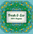 eco label template vector image vector image