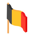 flag belgium icon isometric 3d style vector image vector image