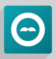 flat mustache icon vector image