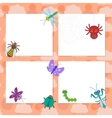 Funny insects set Spider butterfly caterpillar vector image vector image