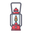 gas lamp icon cartoon style vector image vector image