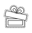 gift box ribbon ornament celebration open cut line vector image vector image