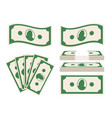 green banknotes set vector image