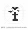halloween grave with spider icon vector image