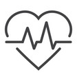 heartbeat line icon medicine and healthcare vector image
