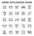 home appliance icon vector image vector image