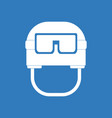 Icon military helmet with goggles vector image