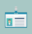 id card doctor vector image