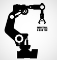 Industrial robotics - production line machinery vector image vector image