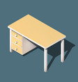isometric office table modern workplace vector image