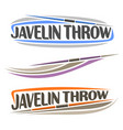 javelin throw vector image vector image